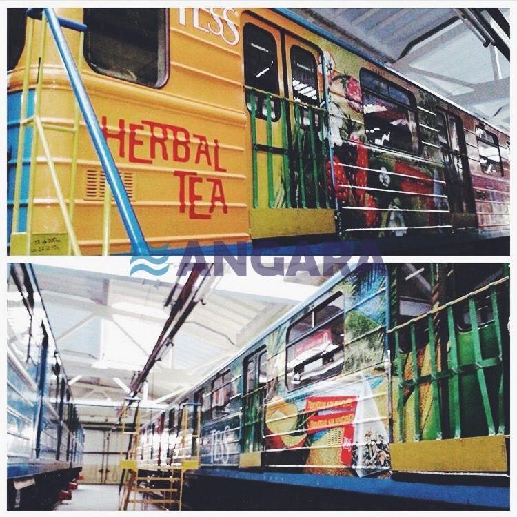 Виниловая аппликация - брендирование вагонов метрополитена