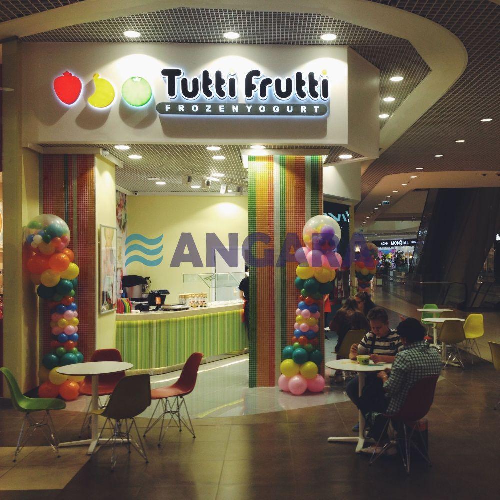 Комплексное оформление торговой точки сети Тутти Фрутти