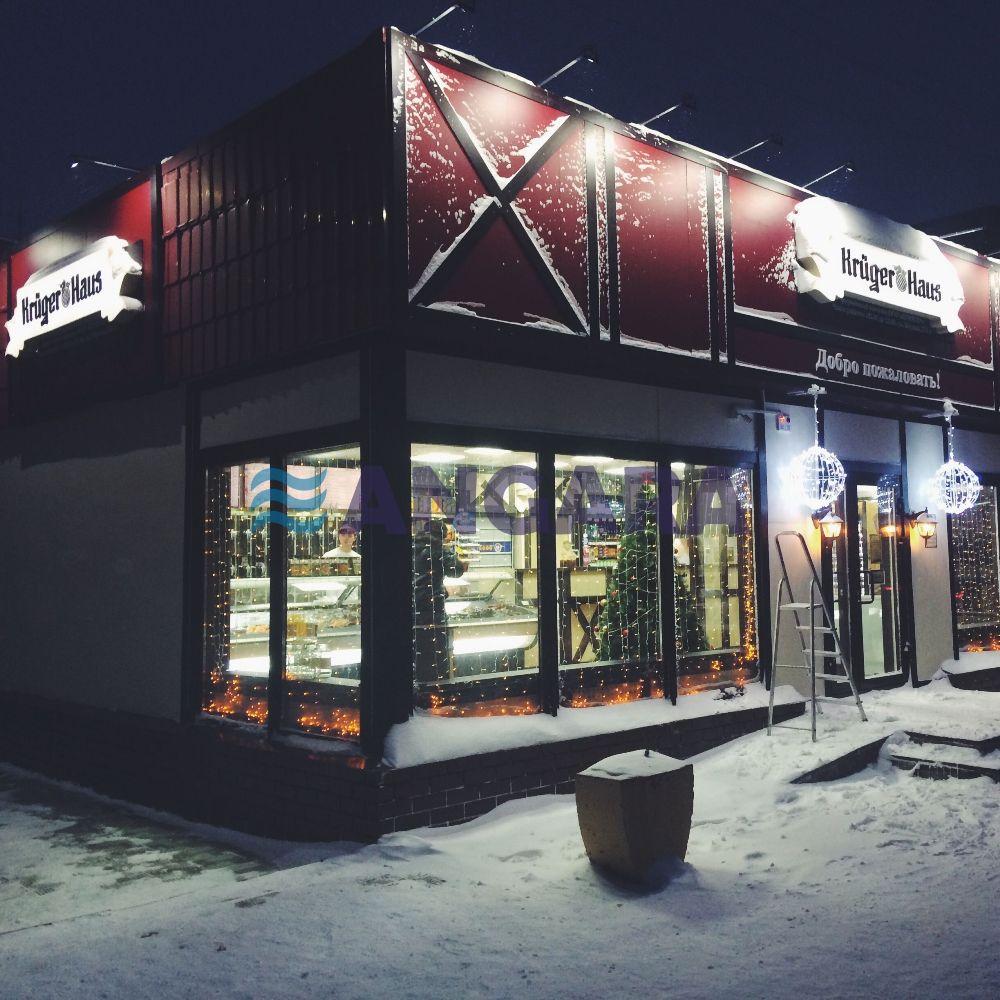 Комплексное оформление фасада фирменного магазина компании - Крюгер