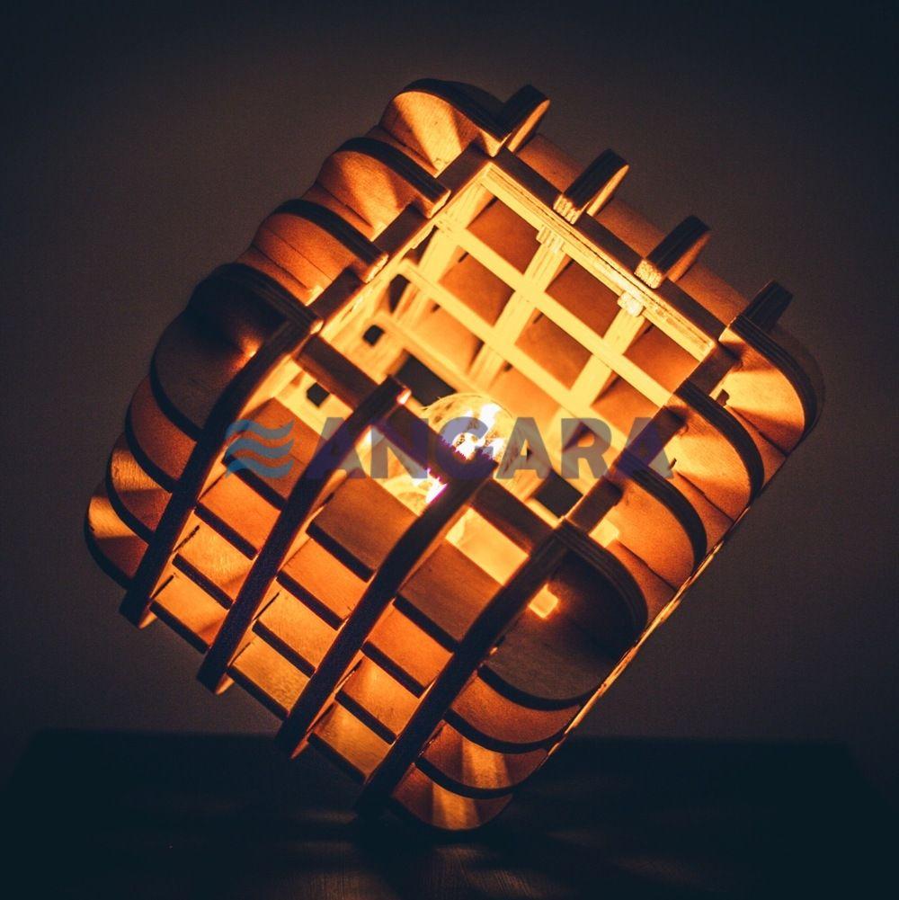 Светильник-куб, исполнение - фанера