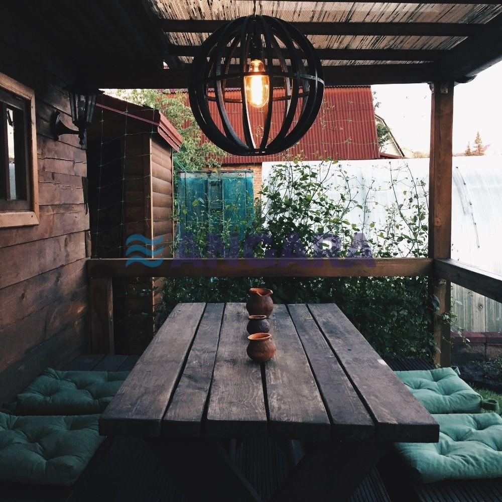 Светильник-сфера, исполнение - фанера. Вариация решения для летней веранды