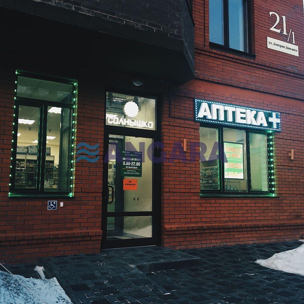 Оформление фасада аптеки. Вывеска, ультратонкие лайтбоксы в витринах, динамические эффекты